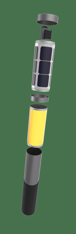 NxT solar bollard, LED buitenverlichting buitenlamp op zonne-energie